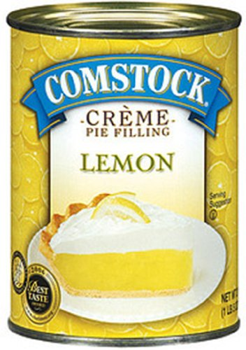Comstock Lemon Crème Pie Filling and Topping, 21-Ounce (Pack of 6)