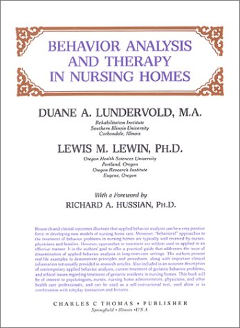 Behavior Analysis and Therapy in Nursing Homes