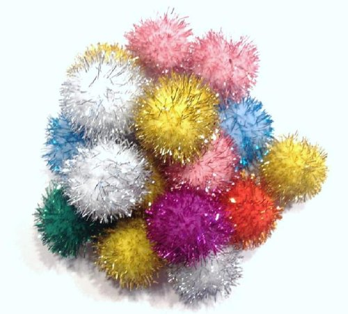 Sparkle Ball Cat Toy  10 Pack  1