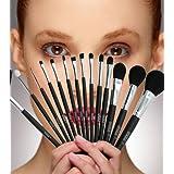Makeup Brushes - Makeup Brush Set With 15 Best Makeup Brushes Plus A Classy Makeup Brush Holder. Professional...