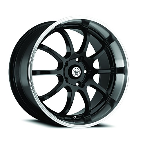 Konig Lightning Gloss Black Wheel with Machined Lip (Dual Drilled 16X7 / 5x100mm and 5x114.3mm) (03 Mitsubishi Eclipse Lip compare prices)