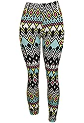Colorful South-Western Print Leggings - One Size