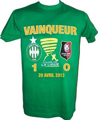 T-shirt ASSE - VAINQUEUR Finale Coupe de la Ligue 2013 contre le Stade Rennais - Collection officielle SAINT ETIENNE - Tee shirt adulte (XXL)