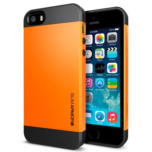 国内正規品SPIGEN SGP iPhone5/5S ケース スリムアーマーS [タンジェリンタンゴ] SGP10369