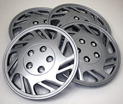 TuningPros WSC-126S15 Hubcaps Wheel Skin Cover 15-Inches Silver Set of 4