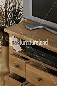 Low cost  Cairo Natural Solid Oak TV Corner Cabinet