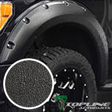 Topline Autopart Sandblast Black Pocket Rivet Style 4Pc Fender Flares Kit Driver Passenger Wheel Cover 04-08 Ford F150 Styleside 06-08 Lincoln Mark LT (2004 Ford F150 Rear Bumper Cover compare prices)