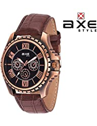 Axe Style Analog Black Dial Watch For Men- X1144KL01