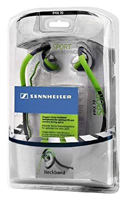 Sennheiser PMX 70 Sport Earbud Line Stereo Neckband Headphone (Discontinued by Manufacturer)