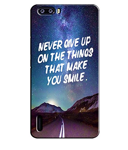 EU4IA Never Give Up Quotes Pattern MATTE FINISH 3D Back Cover Case For HONOR 6 PLUS - D286  available at amazon for Rs.399