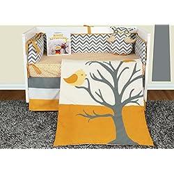 Snuggleberry Baby Nightie Night Owl 6 Piece Crib Bedding Set with Storybook