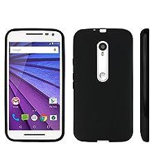buy Spots8® Durable Rubberized Flexible Gel Case For Motorola Moto G (2015) In Black