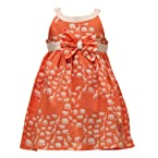 Pixi Girls Pretty Peach Animal Print Tulle Dress