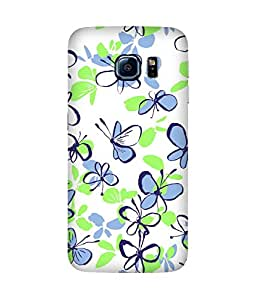 Butterfly Paint Doodles Samsung Galaxy S6 Case