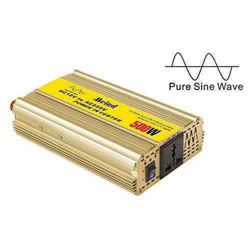 Meind 500w Dc 12v to Ac 220v Peak 1000w Pure Sine Wave Off Grid Power Inverter