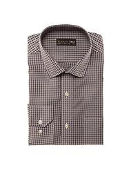 Today's Men Men's Formal Shirt Double Fused Collar ( Grey ) - B00RYVMXLM