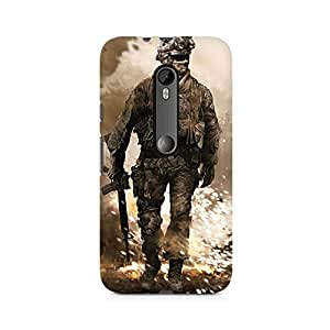 Mobicture Alone Soldier Premium Printed Case For Moto X Force