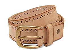 Breakbounce Men's Leather Belt (8907066080248_Medium_Natural)