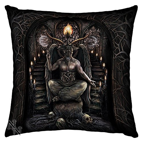 BAPHOMET HORNED GOAT SILK CUSHION 42CM BY NEMESIS NOW by Nemesis Now