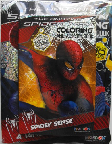 Marvel The Amazing Spiderman Coloring And Activity 3 Book Gift Set. Sealed In Shrink With Cardboard Backing