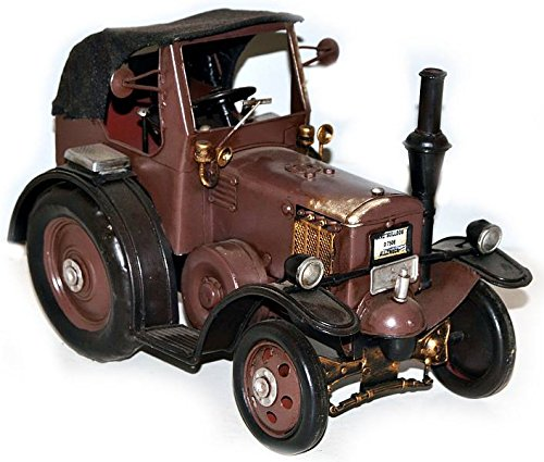 Model Car Tractor Lanz brown - Retro Tin Model
