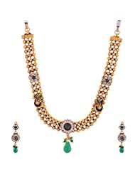 New Amrit Jewellers Gold Plated 1 Gram Antic Necklace For Women - B00QX3BLVK