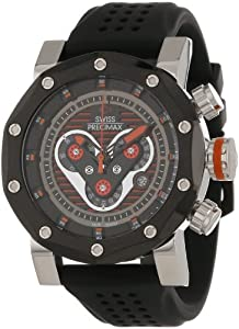 Swiss Precimax Men's SP13087 Vector Pro Sport Black Dial Black Silicone Band Watch