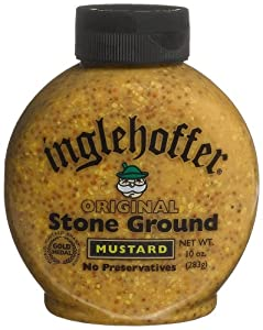 Inglehoffer Stone Ground Mustard 10-ounce Squeezable Bottles Pack Of 6 by Inglehoffer