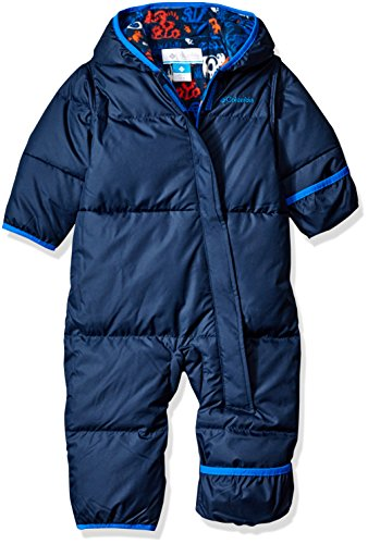 Columbia Baby Boys' Snuggly Bunny Bunting, Collegiate Navy/Navy Animal, 18-24 Months