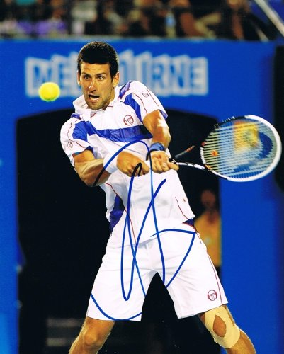 NOVAK DJOKOVIC - Tennis Star AUTOGRAPH Signed 8x10 Photo