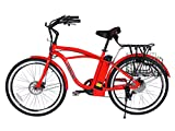 Newport-Beach-Cruiser-Electric-Bicycle-Red