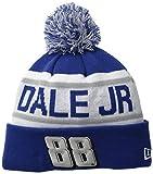NASCAR Hendrick Motorsports Dale Earnhardt Jr Biggest Fan Redux Pom Knit Beanie, One Size, Blue