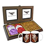 Chocholik Premium Gifts - Rocking Gift With Almonds & Belgium Chocolate Rocks With Diwali Special Coffee Mugs...
