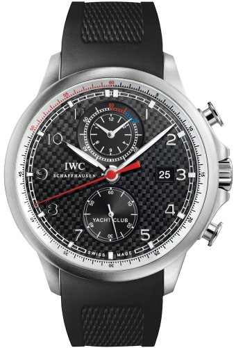 IWC Portuguese Yacht Club Automatic Chronograph Black Dial Mens Watch 3902-12