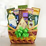 Spring Medley Gourmet Gift Basket of Cheese, Cookies, and Chocolates