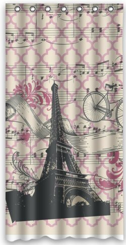36(w) x 72(h) Paris Eiffel Tower City Theme Print 100% Polyester Bathroom Shower Curtain Shower Rings Included кошелек noosa amsterdam noosa amsterdam mp002xw0dimt
