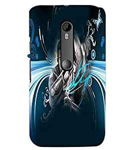 PrintDhaba Abstract Image D-4983 Back Case Cover for MOTOROLA MOTO G3 (Multi-Coloured)