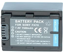 Neewer Replacement Sony NP-FH70 Battery for Sony Handy Cam DCR-DVD850 SX40 SX41 SX60 HDR-CX100 TG5 CX500 CX520 XR100 XR200 XR500 XR520 Camcorders