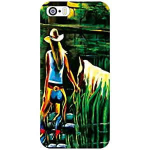 Apple iPhone 5S Back Cover - Horse Designer Cases