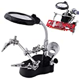 New 3.5x12x 3rd Helping Hand Magnifying Soldering LED Iron Stand Lens Magnifier