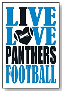 Live Love I Heart Panthers Football lined journal - any occasion gift idea for Carolina Panthers fans from WriteDrawDesign.com