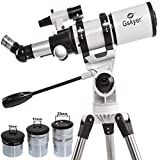 Gskyer Refractor 400 X 80mm Dual-speed Slow Motion Mount Telescope- Wide Bright Multicoated Eyepiece Maximum to 22mm Dia-sturdy Stainless Tripod- Good Partner to View Moon and Planet Just At Your Home