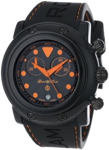 Glam Rock Mujer GR61114-ORGS Miami Beach cron-grafo Black Textured Dial Black Silicone Reloj