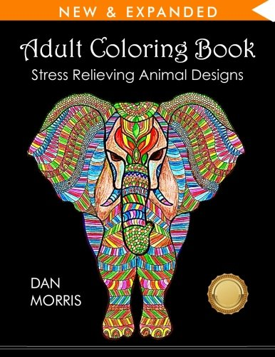 adult-coloring-book-stress-relieving-animal-designs