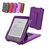 "DURAGADGET Purple Genuine Leather Case & Cover With Stand For Amazon's New Kindle, Wi-Fi, 6"" E Ink Display (Latest Generation) + Car Charger"