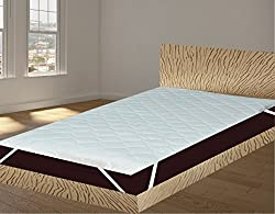 India Furnish Waterproof Quilted Mattress Protector With Elastic Band King Size - White 78x36