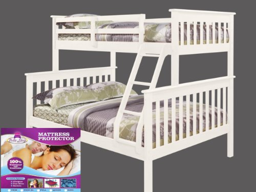 White Bunk Bed Twin Over Full 1229 front