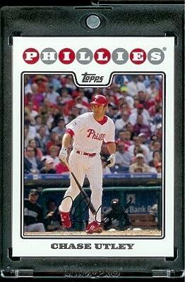2008 Topps # 460 Chase Utley - Philadelphia Phillies - MLB Baseball Trading Card