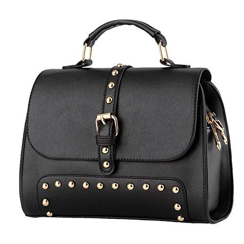 koson-man-damen-vintage-schnalle-sling-tote-taschen-top-griff-handtasche-schwarz-schwarz-kmukhb292