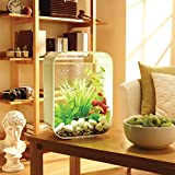 biOrb LIFE 15 Aquarium with LED Light - 4 Gallon, White